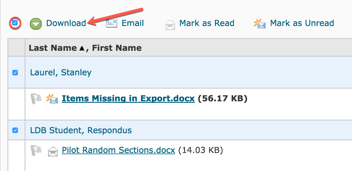 Exporting Dropbox Submissions – Pilot Knowledge Base